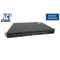 Cisco WS-C2960X-48LPD-L 48 Port Managed L2 Gigabit Ethernet Switch C2960X-STACK