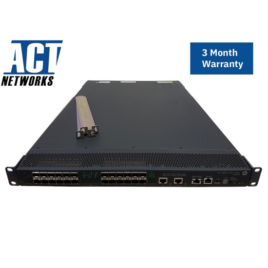 HP A5820AF-24XG JG219A 24 Port 10Gb SFP+ Layer 3 FlexFabric Switch 2x PSU 2x Fans Rails
