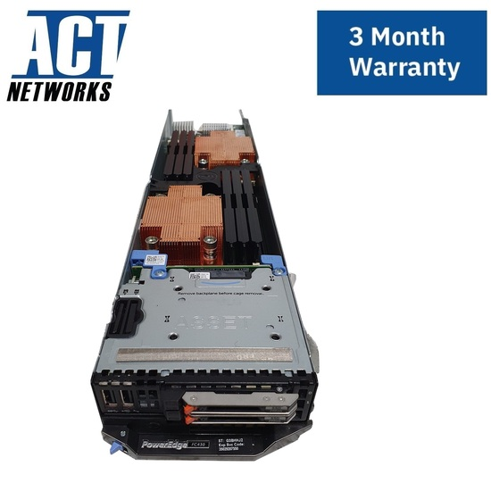 Dell PowerEdge FC430 Blade Node 2x E5-2609v4 2x 200GB SATA SSD for FX2S Quarter-width Chassis